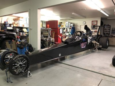 2012 M&M Top Dragster 256 wb soft tail roller/TK