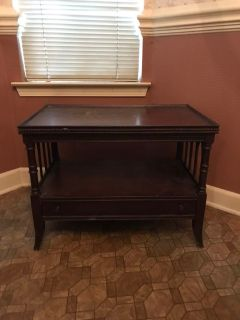 Antique table, cherry wood & over 100 years old. Perfect for refinishing & some TLC.