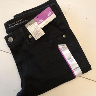 MOSSIMO Mid-Rise Straight Black Jeans
