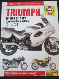 Buy Triumph service manual Haynes triples fours 1991 92 93 94 95 96 97 98 99 to 2004 motorcycle in Canyon Country, California, US, for US $20.00