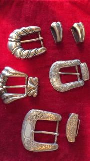 Silver Buckles and clasps.