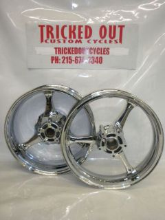 Purchase 2006 2007 SUZUKI GSXR 600 750 Chrome Rims for Exchange. stock chrome rims 06-07 motorcycle in Warminster, Pennsylvania, United States, for US $599.99