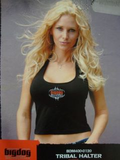 Find BIG DOG MOTORCYCLES 2 X-LARGE TRIBAL HALTER EMBROIDERED LOGO LADIES BDM motorcycle in Lyons, Kansas, United States, for US $14.99