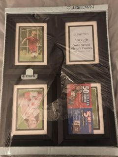Wood and glass picture frames
