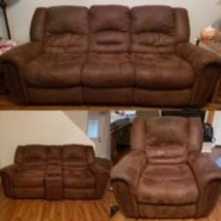 3 pcs Loveseat, Sofa, Recliner