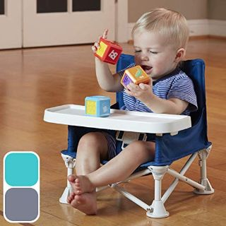 hiccapop Omniboost Travel Booster Seat with Tray, Tip-Free Design