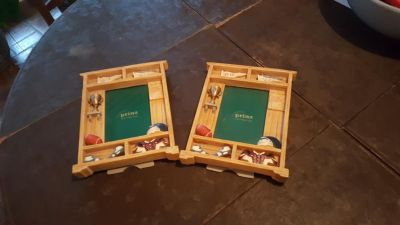 2 NEW Sports themed picture frames