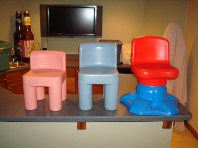 """Little Tikes Toddler Child Chunky Chairs """"2"""" & Swivel Chair L@@K!!"""