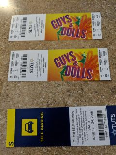 Tickets to TUTS Guys and Dolls
