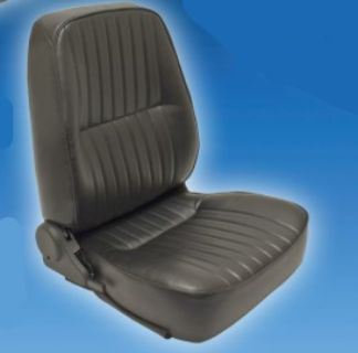 Low-back Seat Only, Right Side, Black Vinyl