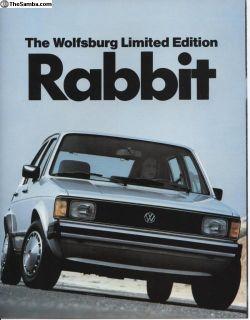 1983 Wolfsburg Rabbit brochure
