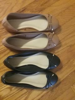Tan and black forever 21 shoes