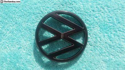 VW Vanagon Front VW Emblem BLACKCHROME REFURBISHED