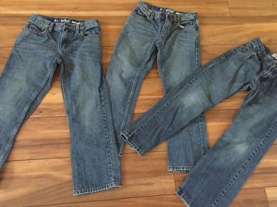 Lot of 3 pairs of jeans boys sz8 Like New