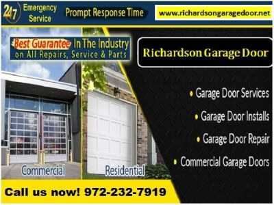 1 hrs Emergency Garage Door Repair Services | Richardson TX | $25.95