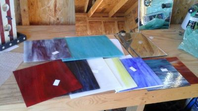 Stain glass and tools /new and like new
