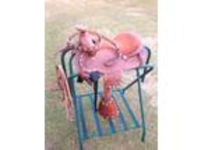 NEW 10 inch pony saddle with matching breast collar and bridle 4 sale