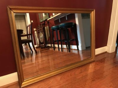 """Mirror - Gold Framed 46"""" wide, 36"""" tall"""