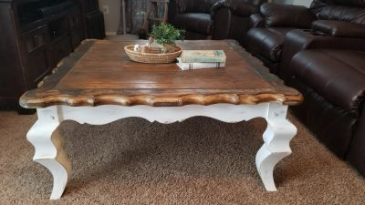 Solid wood gorgeous refurbished coffee table