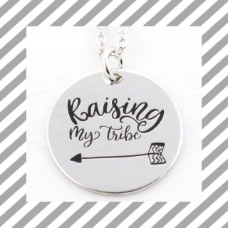 Raising My Tribe silver pendant necklaces with 18 chain, $3 each!