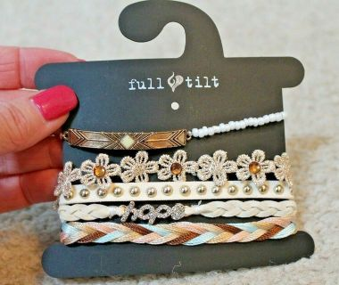 NEW With Tags -- Full Tilt -- Set of 5 Bracelets