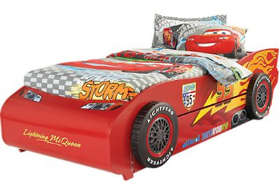 Disney Cars Lightning McQueen Red 5 Pc Twin Bed w Trundle