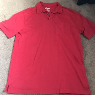 Red polo Duluth trading co