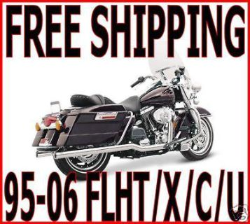 Find VANCE & HINES CHROME BIG SHOT DUALS TRUE DUAL EXHAUST 95-2006 HARLEY TOURING FLH motorcycle in Zieglerville, Pennsylvania, US, for US $666.95