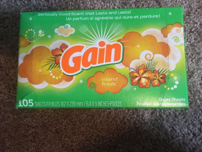 Gain dryer sheets - island fresh scent 105 count