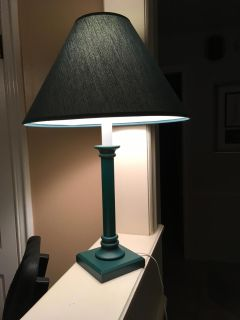 Nice Olive Green Table Lamp, Works Great!