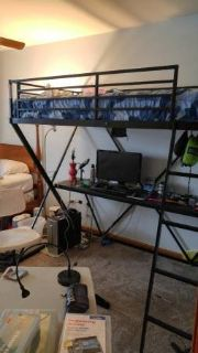 Loft bed with Desk VERY GOOD CONDITION