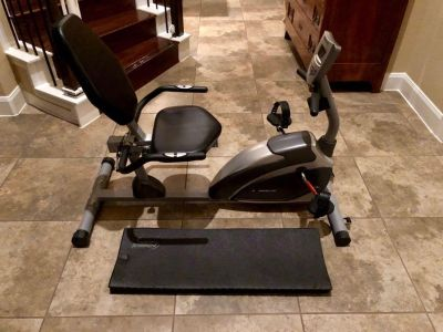 Exerpeutic therapeutic fitness bicycle and mat