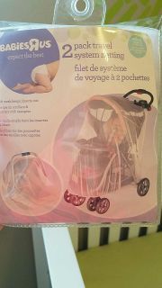 Carseat/Stroller netting (keeps insects out), 2 pk, neverused