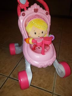 Baby Push Stroller with Baby doll
