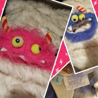 L pair pet scary monsters costume hats ppu