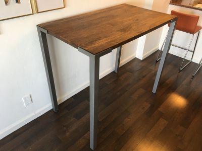Cb2 stilt 42 high dining table bar top