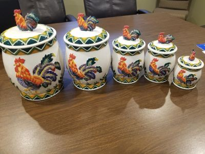 5-Piece Rooster Canister Set