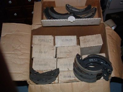 Sell 13 sets of VW Break Shoes 331 609 537 NOS Audi- Opel motorcycle in Stoughton, Massachusetts, US, for US $5.00
