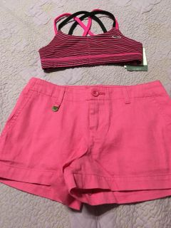 Ralph Lauren new short no tags and champion sport bra new W/tags