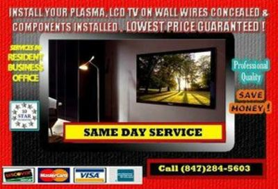 Same Day Flat Screen Tv Installation