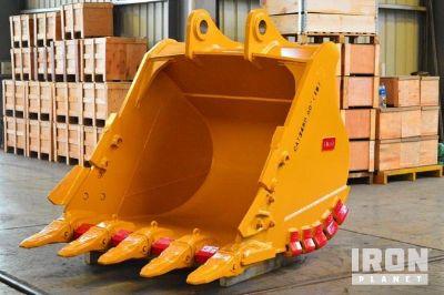 """Emaq 60"""" HD Excavator Bucket w/ """"TB"""" Linkage - Fits Cat 345 - Unused"""