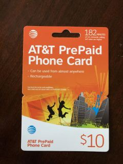 Rechargeable AT&T phone card