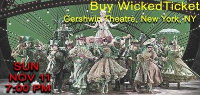 Buy Wicked Tickets on Tixbag, Sun 11 Nov 2018, New York, NY
