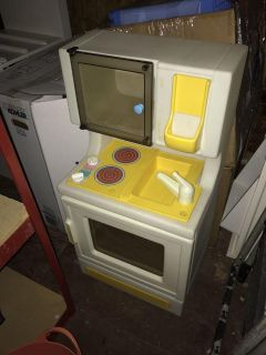 Little tikes stove and microwave vintage