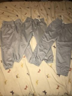 3 pair of boys baseball pants size medium