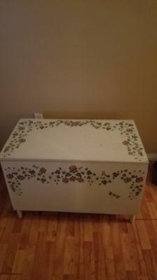 Wood storage box/ chest