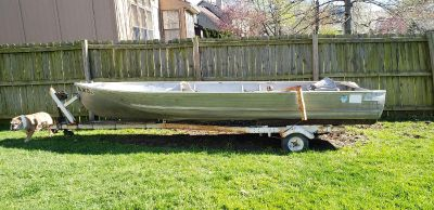 16' boat with trailer