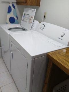 New Amana Electric Washer & Dryer