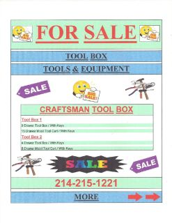 Tool Box & Tools & Equipment