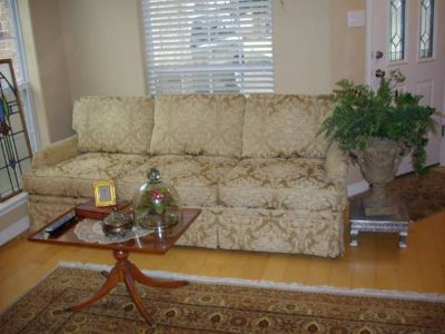 EXCELLENT CREAM AND GOLD SOFA